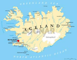 Island Landkarte