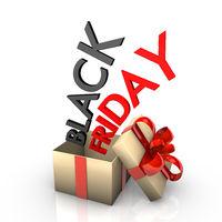 Golden Gift Box Black Friday