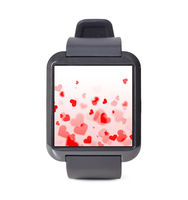 modern smart watch with hearts