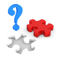 Question Mark Red Puzzle