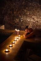 Spa with candle