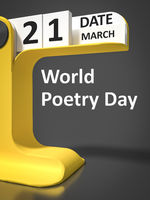 vintage calendar World Poetry Day