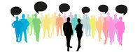 Business Team Gruppe mit Kommunikation Konzept