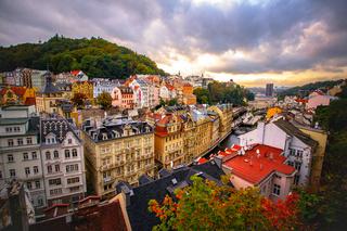 Karlovy Vary. Evening