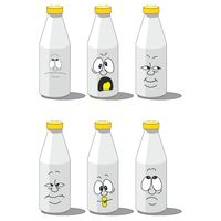 Milk smailing bottle set 003