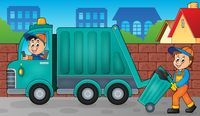 Garbage collector theme image 3 - picture illustration.