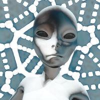 3D Illustration; 3D Rendering of an Alien