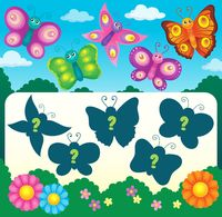 Butterfly riddle theme image 3 - picture illustration.