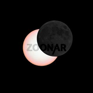 Mond verdeckt Teile der Sonne