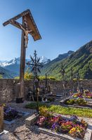 Old cemetery cross in South Tyrol