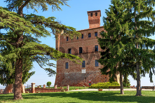 Old castle and of Grinzane Cavour in Italy.