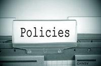 Policies Register Folder Index green with spotlight