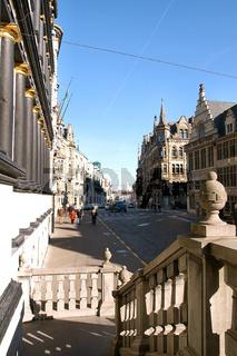 Stadhuis Gent Rathaus Fassade Fahnen