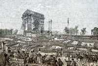 Fete De La Fraternite at the Arc De Triomphe, Place De L'Etoile, Paris on 20th April 1848