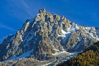 Rocky massif of the Aiguille du Midi, Chamonix, Haute Savoie, France