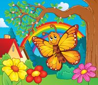 Happy butterfly topic image 3 - picture illustration.