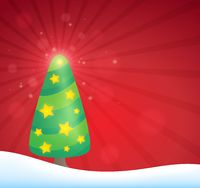 Stylized Christmas tree topic image 5 - picture illustration.