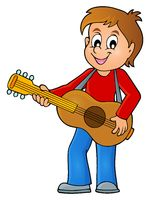 Boy guitar player theme image 1 - picture illustration.