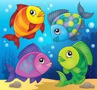 Fish topic image 3 - picture illustration.