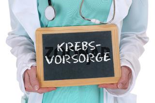 Krebs Vorsorge Krebsvorsorge krank Krankheit gesund Gesundheit Arzt Doktor