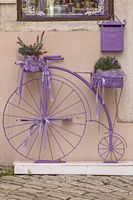Purple colored penny farthing