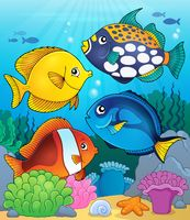 Coral reef fish theme image 4 - picture illustration.