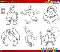 santa on christmas coloring book