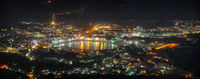 Cityscape of Pushkar, India at Night