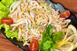 tasty salad at plate