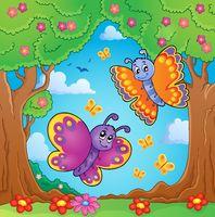 Happy butterflies theme image 8 - picture illustration.