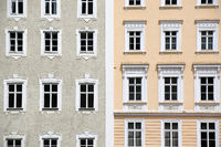 Facade view in Salzburg