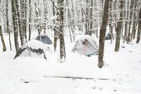 Winter tent camp