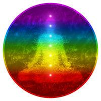 Regenbogen Yoga Chakra Konzept 2