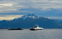 Ferry on the Moldefjord near Molde Norway