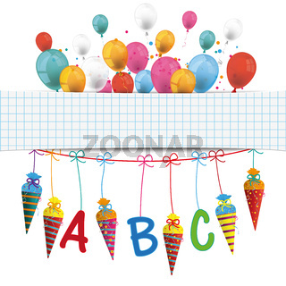 Candy Cones Checked Banner Balloons PiAd