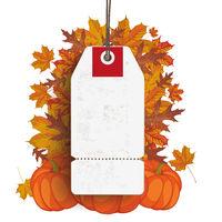 White Price Sticker Thanksgiving Sale PiAd