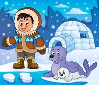 Arctic theme image 5 - picture illustration.