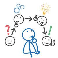Stickmen Thinking Planning Concept