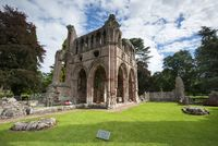 Final resting place of poet and writer Sir Walter Scott in the Dryburgh Abbey