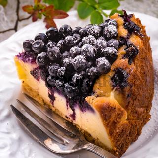 Cheesecake blueberries