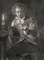 Wilhelm Meister, scene from Wilhelm Meister's Apprenticeship, novel by Johann Wolfgang von Goethe