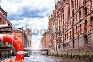 Die alte Speicherstadt in Hamburg
