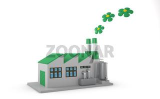Environmentally friendly factory concept.