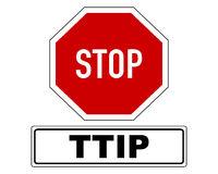 Stoppschild mit Zusatzinformation - Stop sign with added information