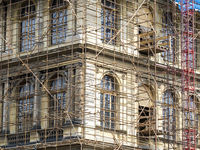 Fragment of scaffolding in Prague