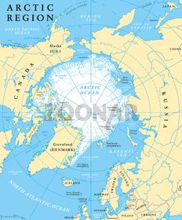 Arktis Region Landkarte