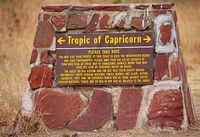 Tropic of Capricorn at Kruger National Park, SA