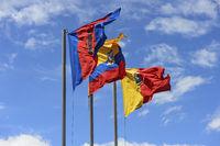 Flaggen der Hauptstadt Quito