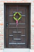 Decorated bavarian front door
