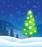 Stylized Christmas tree topic image 8 - picture illustration.